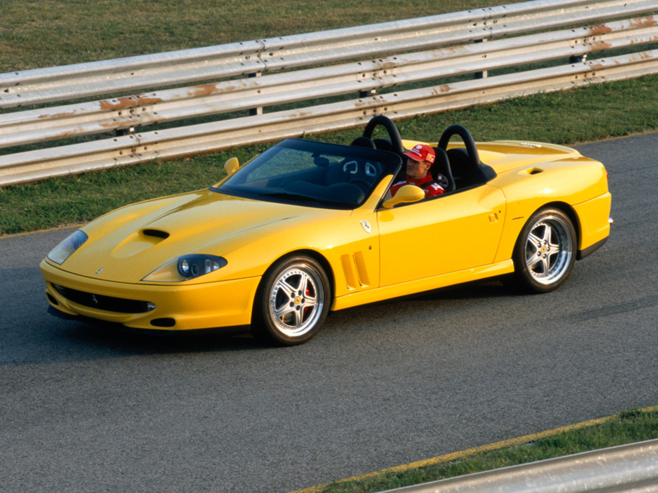 550 Barchetta Pininfarina, Schumacher at Fiorano circuit