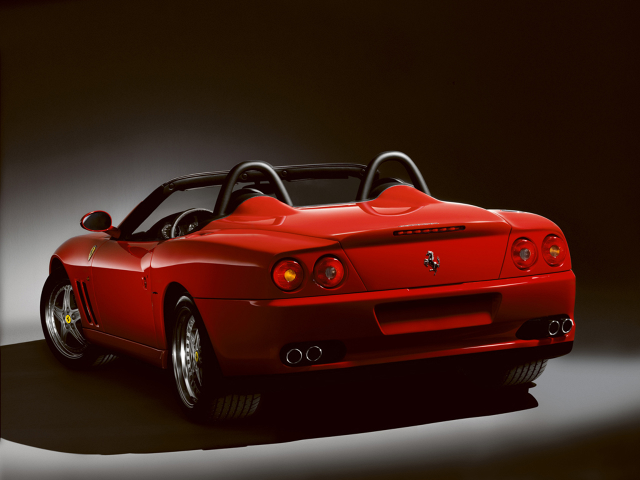 550 Barchetta Pininfarina: 3/4 rear view