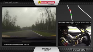On board with the 458 Challenge EVO at Monza