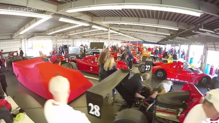 "The F333 SPs return ""home"" - The prototype to start of the Ferrari Show tomorrow"