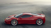 458 Speciale - side view