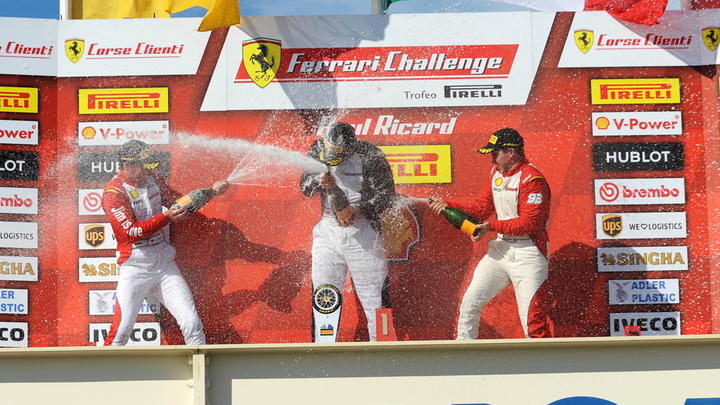 "Ferrari Challenge Europe - In Race-1 win for ""Babalus"", Vezzoni and Duyver"