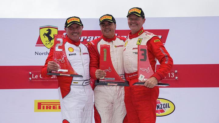 Ferrari Challenge North America - Victories beneath the rain for Anassis, Zoi and Saada