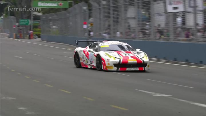 Ferrari Challenge APAC - Spectacular wins for Merckx, Teo and Yang in Singapore