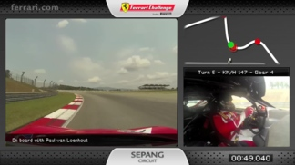 On board with the 458 Challenge EVO in Sepang