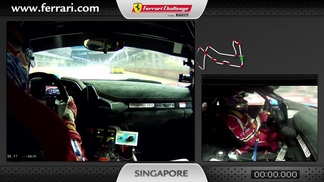 Ferrari 458 Challenge on-board camera: Gregory Teo in Singapore