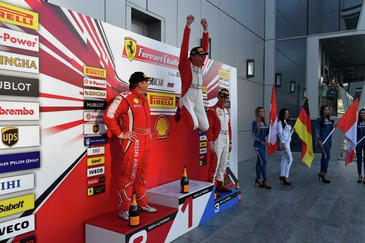 Ferrari Challenge Europe - Double for Grossmann e Atoev. Loefflad wins Coppa Shell