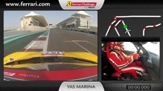 On-board of the Ferrari 458 Challenge: Tani Hanna at Abu Dhabi