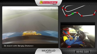 On-board of the Ferrari 458 Challenge: Sergey Chukanov at Mugello