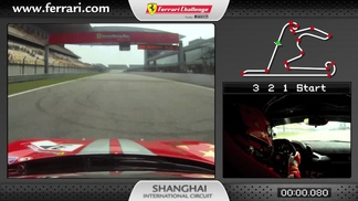 On-board of the Ferrari 458 Challenge: Anthony Liu in Shanghai